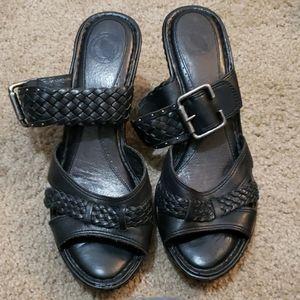 Women's Black Nurture Open Toe Heels